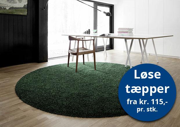 løse tæpper afpassede tæpper runde