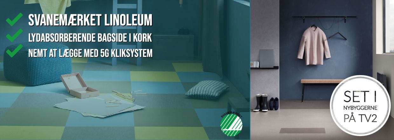 Marmoleum Click gulv fra Forbo - set i Nybyggerne på TV2