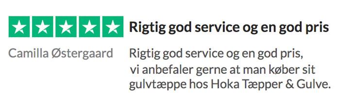 Trust pilot HokaGulve.dk