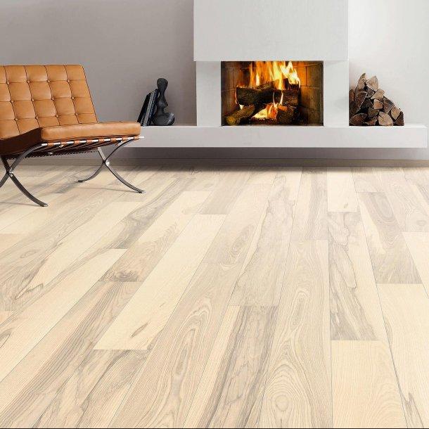 Trægulv Ask sand hvid Universal børstet Haro Parket 4000 Plank 2V