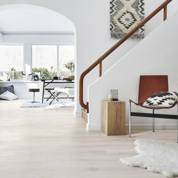 Trægulv eg Opal Hvid Plankegulv Tarkett Heritage
